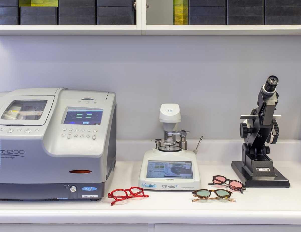 Marc Michel Eyewear on-site lab